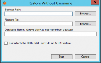 Restore without password